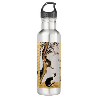 Cats and Sparrows Water Bottle