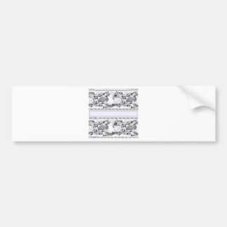 Cats and stripes car bumper sticker