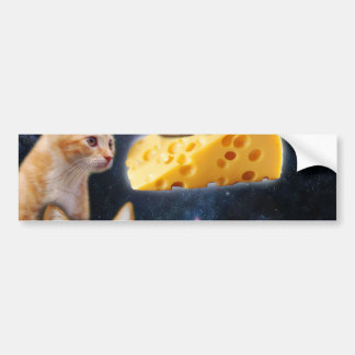 Cats and the mouse on the cheese bumper sticker