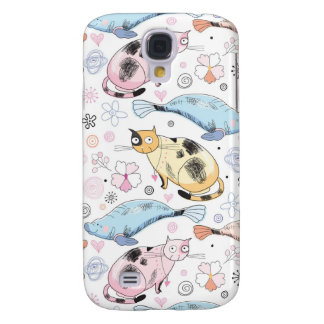 Cats and Whales Galaxy S4 Cases
