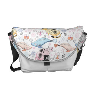 Cats and Whales Messenger Bag
