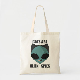 Cats are alien spies tote bag