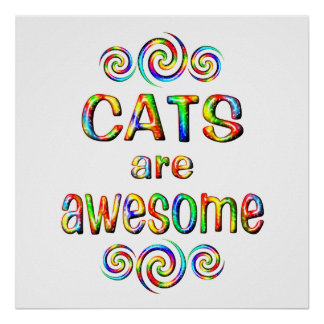 CATS ARE AWESOME PRINT