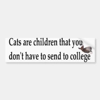 cats are children car bumper sticker
