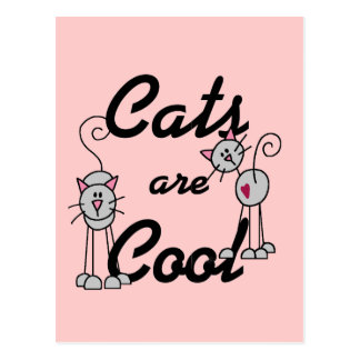 Cats Are Cool Tshirts and Gifts Postcard