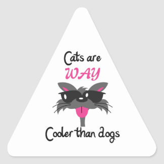 CATS ARE COOLER TRIANGLE STICKERS