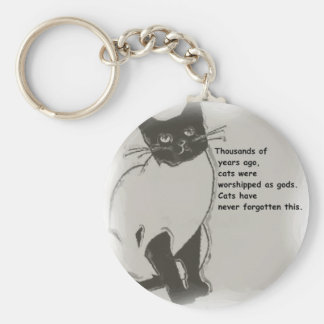Cats are Gods Keychain