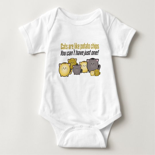 Cats are like Potato Chips... Baby Bodysuit