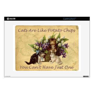 Cats Are Like Potato Chips Decal For Laptop