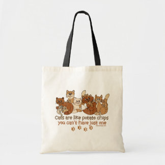 Cats are like potato chips Design Tote Bag