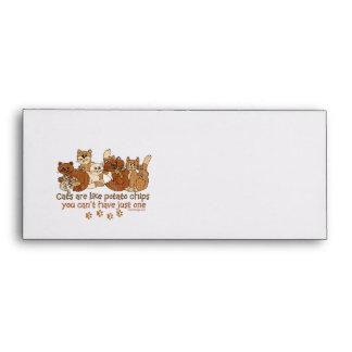 Cats are like potato chips envelopes