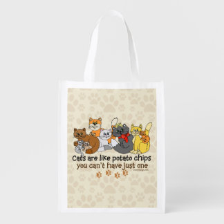 Cats are like potato chips grocery bag