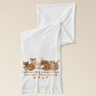 Cats are like potato chips Grunge Version Scarf