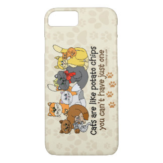 Cats are like potato chips iPhone 7 case