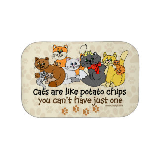 Cats are like potato chips lunch box