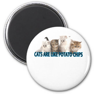 CATS ARE LIKE POTATO CHIPS ' MAGNET