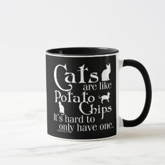 Cats are like potato chips... mug