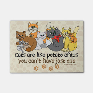 Cats are like potato chips post-it notes
