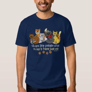 Cats are like potato chips Saying Shirt