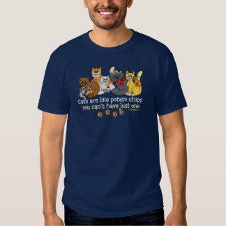 Cats are like potato chips tee shirt
