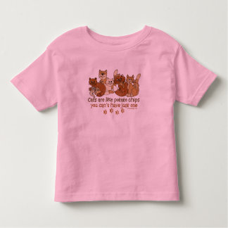 Cats are like potato chips toddler t-shirt