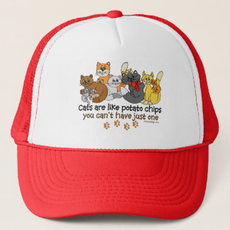 Cats are like potato chips trucker hat
