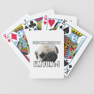 CATS ARE MISERABLE I'M FUN :-) MEME BICYCLE PLAYING CARDS