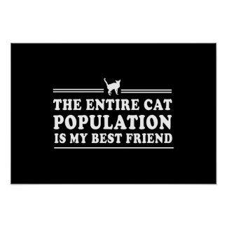 Cats are my Best Friend Poster