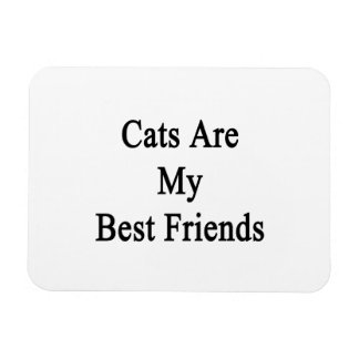 Cats Are My Best Friends Rectangular Photo Magnet