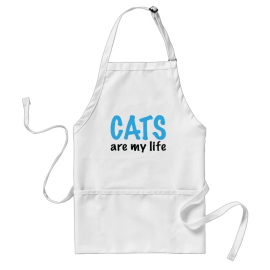 CATS are my life Adult Apron