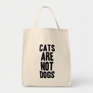 Cats are not dogs tote bag