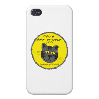 CATS ARE PEOPEL TO -- LOVE TO BE ME iPhone 4/4S CASES