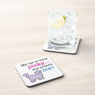 Cats Are Picky Funny Cat Coasters (set of 6)