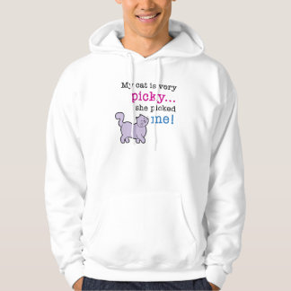Cats Are Picky Funny Cat Saying Hooded Sweatshirt