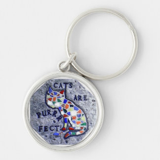 CATS ARE PURRRFECT KEYCHAIN