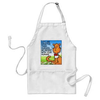 Cats Are Smarter Adult Apron
