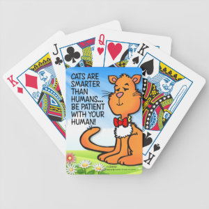 Cats Are Smarter Bicycle Playing Cards
