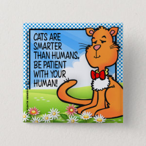 Cats Are Smarter Pinback Button
