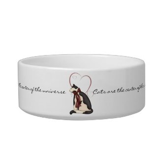 Cats are the Center of the Universe Cat Bowl petbowl
