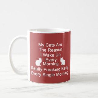 Cats Are The Reason Coffee Mug-Red Coffee Mug