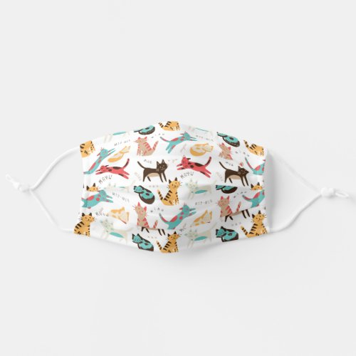 Cats around the world adult cloth face mask