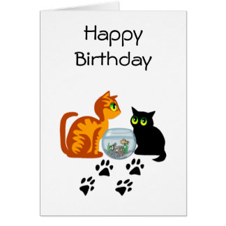 Cats At Play Stationery Note Card