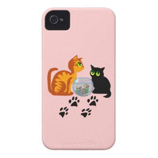 Cats At Play iPhone 4 Case-Mate Case
