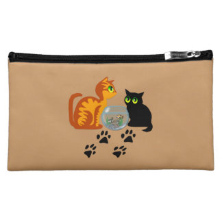 Cats At Play Makeup Bag