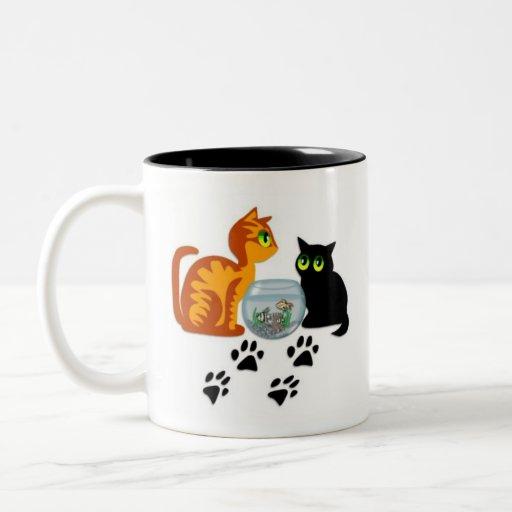 Cats At Play Two-Tone Coffee Mug