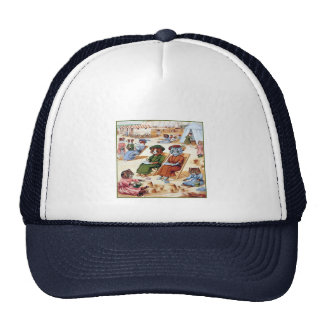 Cats at the Beach by Louis Wain Trucker Hat