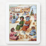 Cats at the Beach by Louis Wain Mouse Pad