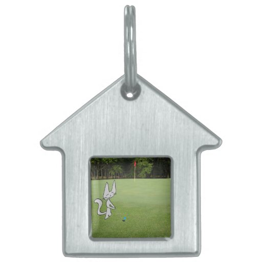 Cats At The Golf Course Pet ID Tag