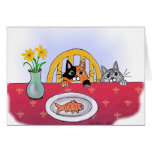 Cats at the Table, Notecard Card