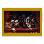 Cats at the Theater for Christmas Greeting Card